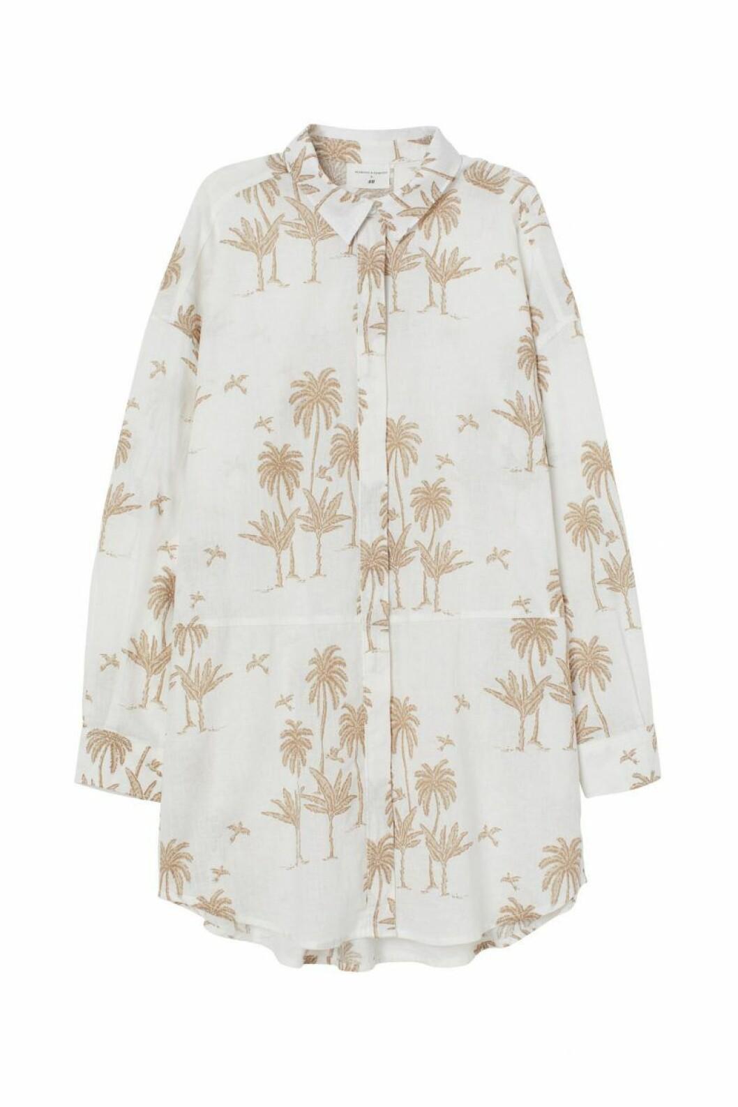 H&M x Desmond & Dempsey sommarkollektion 2020: mönstrad klänning