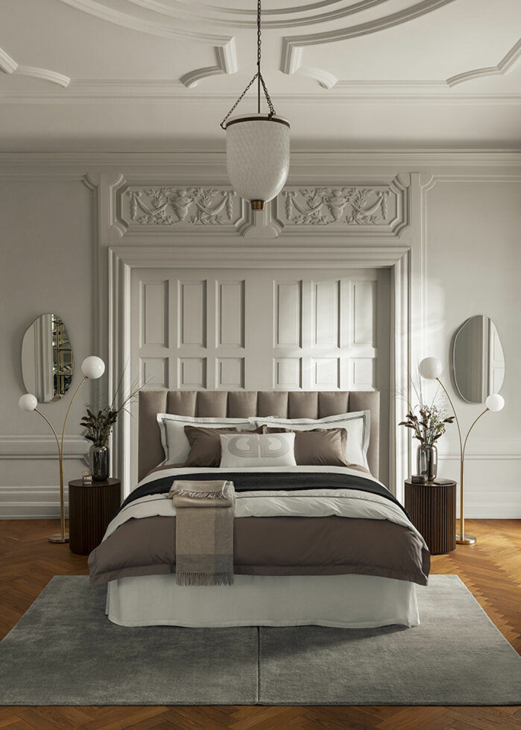 Sovrum med hotellkänsla i H&M Homes Classic Collection-kampanj