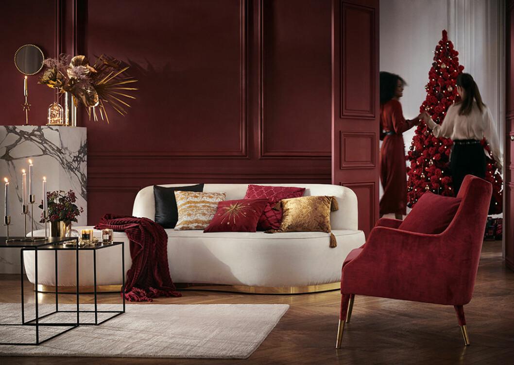 Stämningsfullt rött hos H&M Home julen 2019