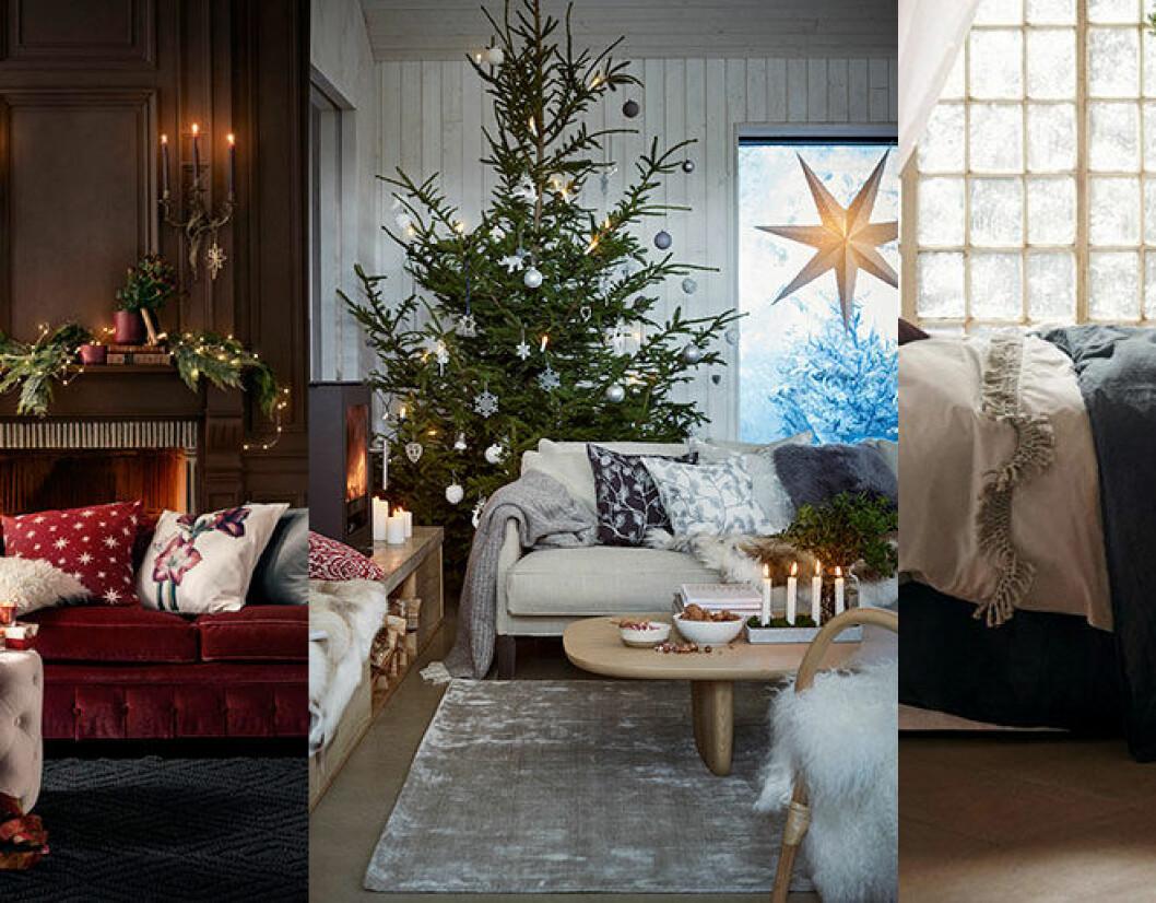 Pampig jul hos H&M Home med rött och mässingsfärg