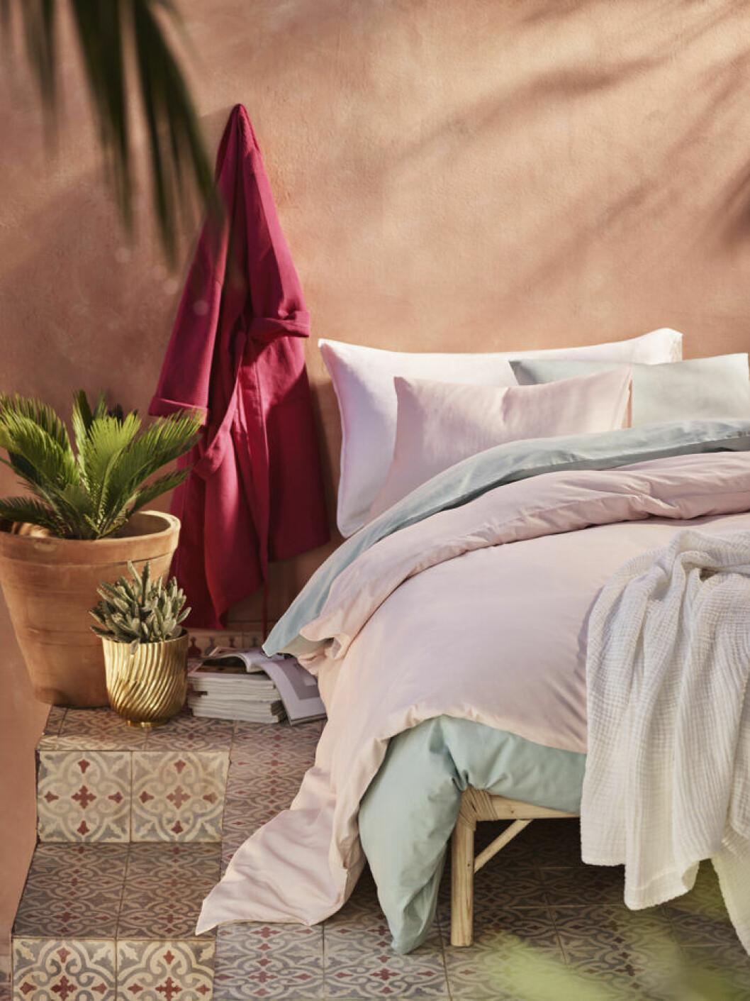 H&M home bäddar med somriga pasteller