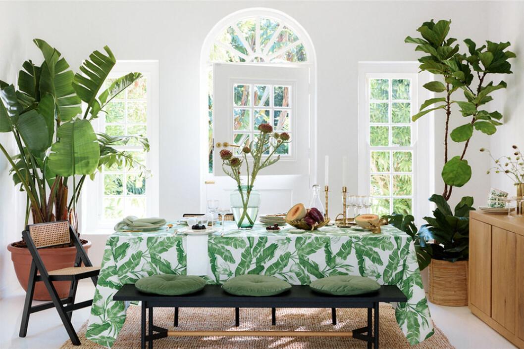 Gröna mönster hos H&M Home våren 2020