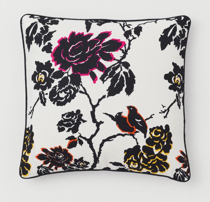 H&M home x Diane von Furstenberg blommönstrad kudde