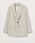 Beige blazer i rak, oversizad modell men en knapp. Blazer från H&M.