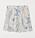 Shorts i vitt med blå blommönster på. Short från H&M.