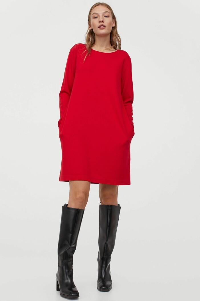 Röd klänning H&M