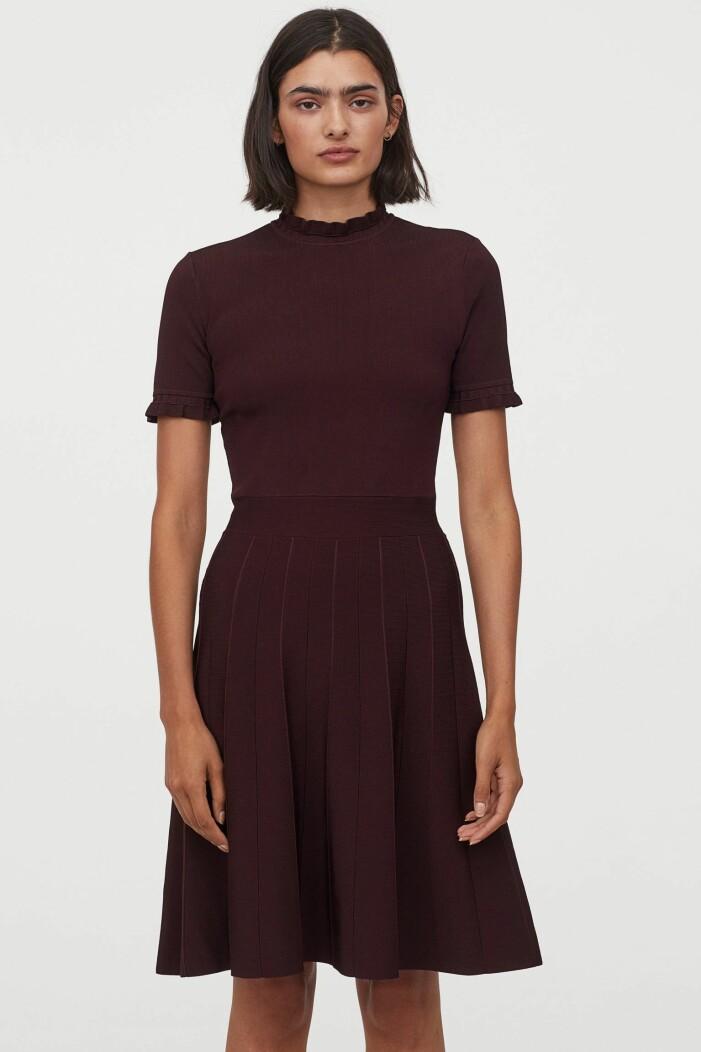 Vinröd klänning H&M