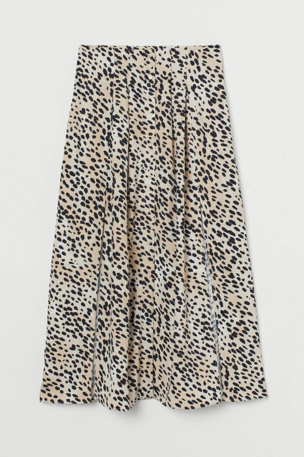 leopardmönstrad kjol h&M