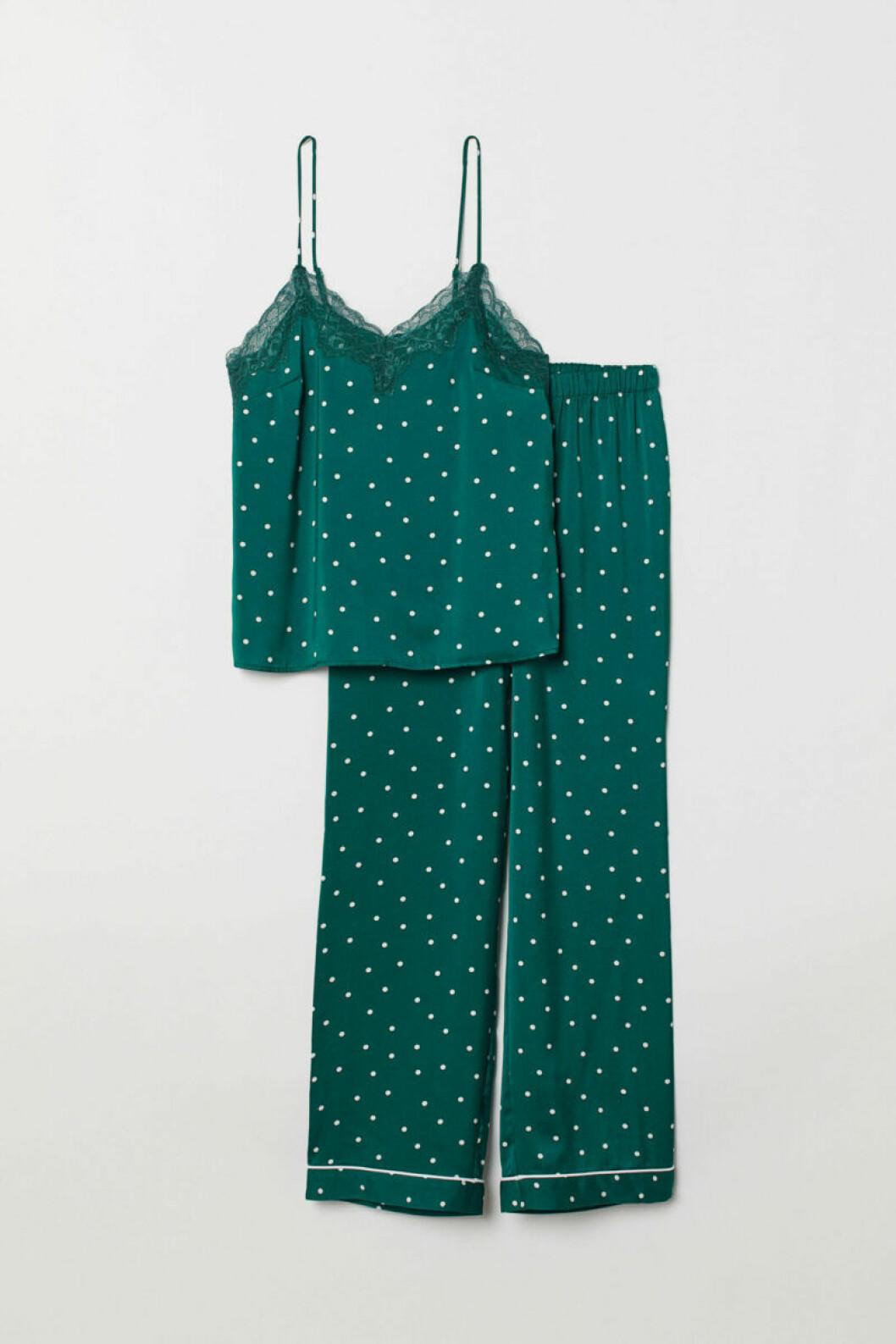 Grön pyjamas