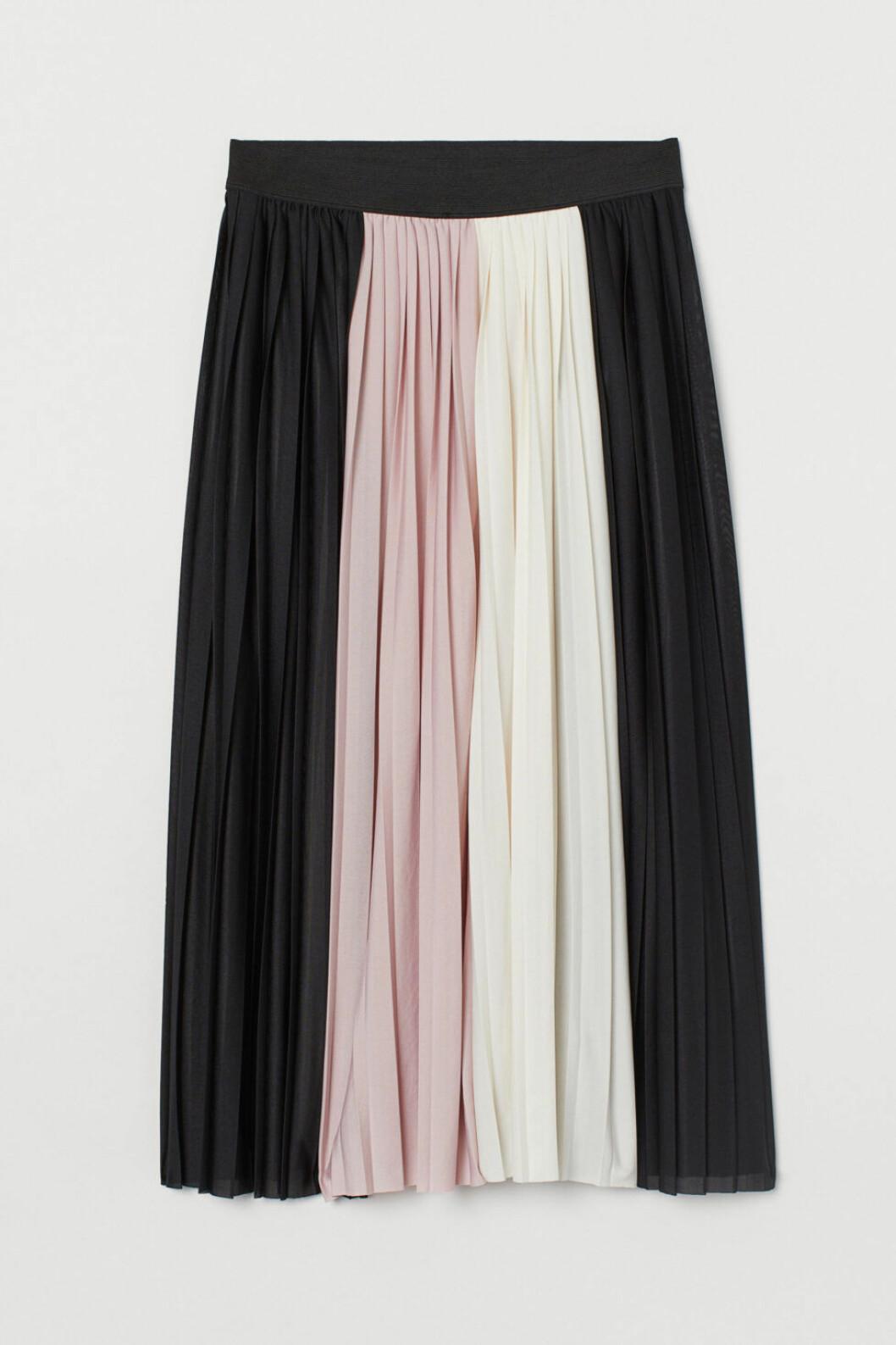 plisserad kjol hm