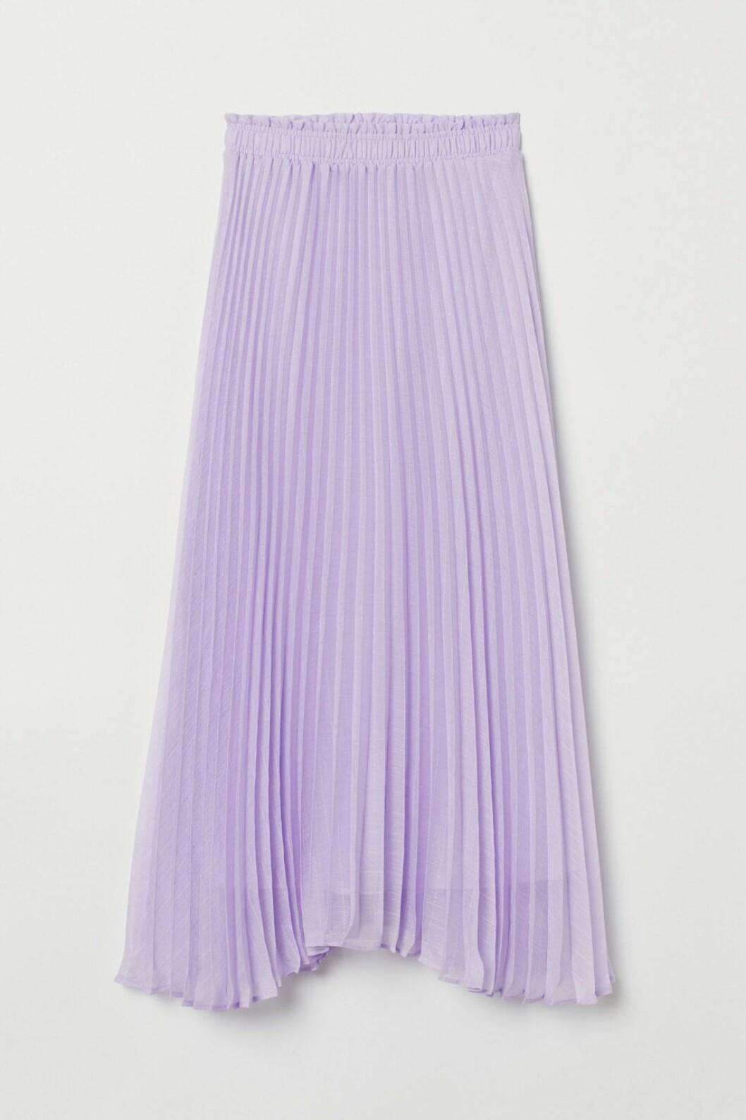 plisserad kjol lila