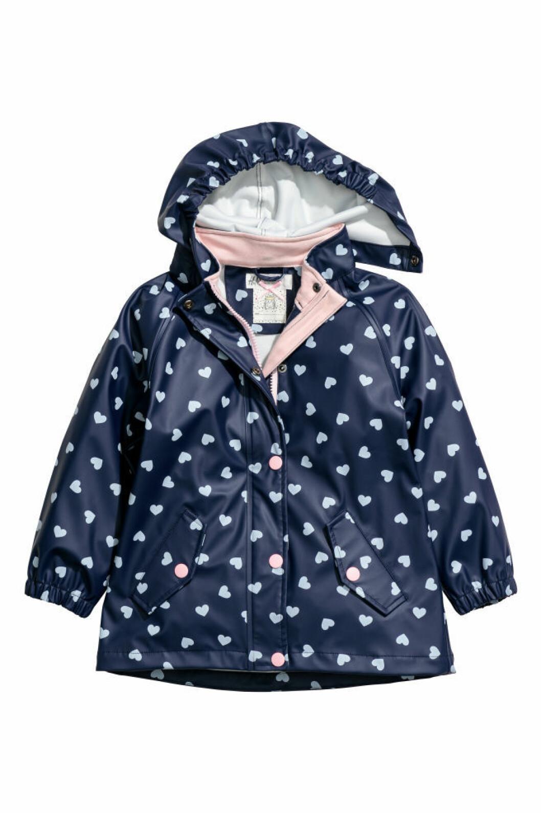 Marinblå regnjacka barn från H&M