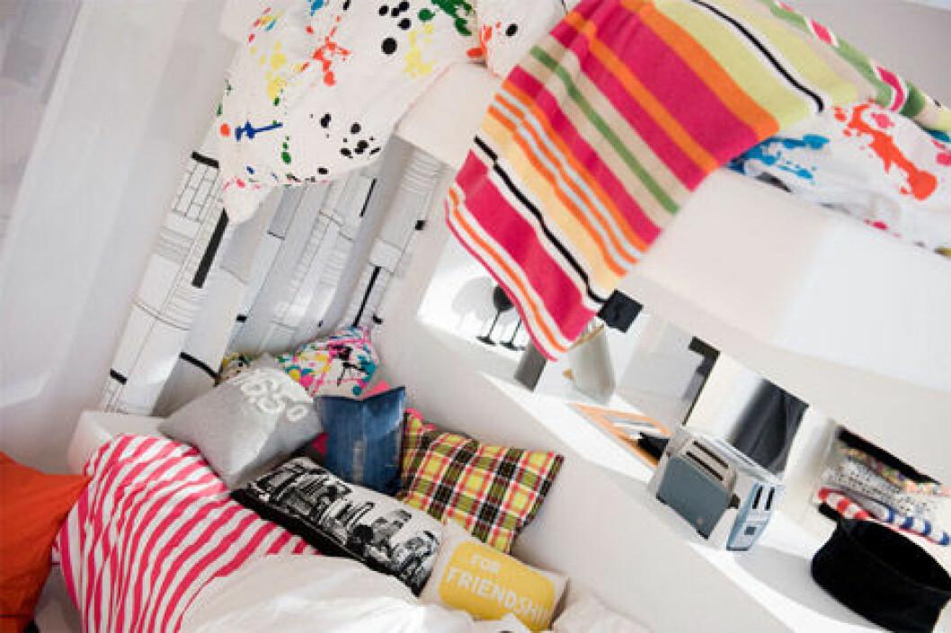 Färgstarka kuddar och textilier från H&M Home.