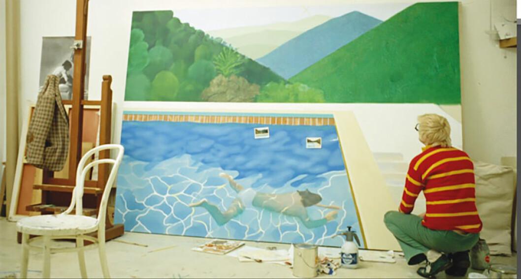 David Hockney i sin ateljé