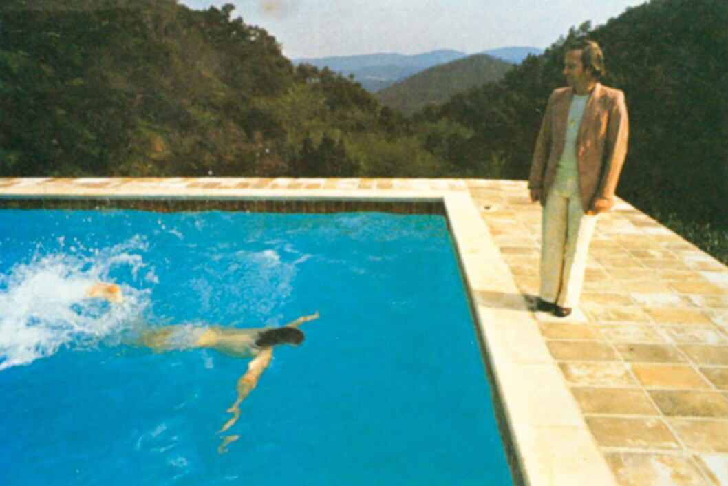 David Hockney fotografi i Saint-Tropez pool