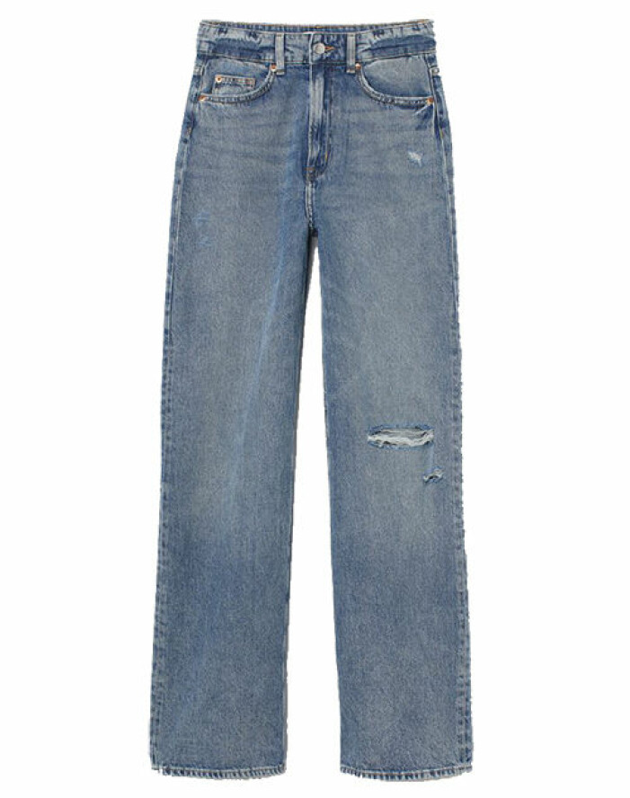 högmidjade jeans hm
