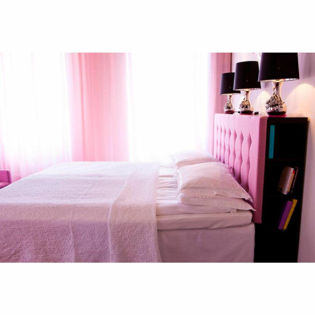 Rosa rum på Glora hotell