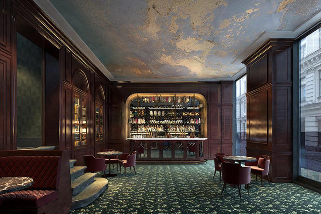 Baren Papillon på Bank Hotel i Stockholm