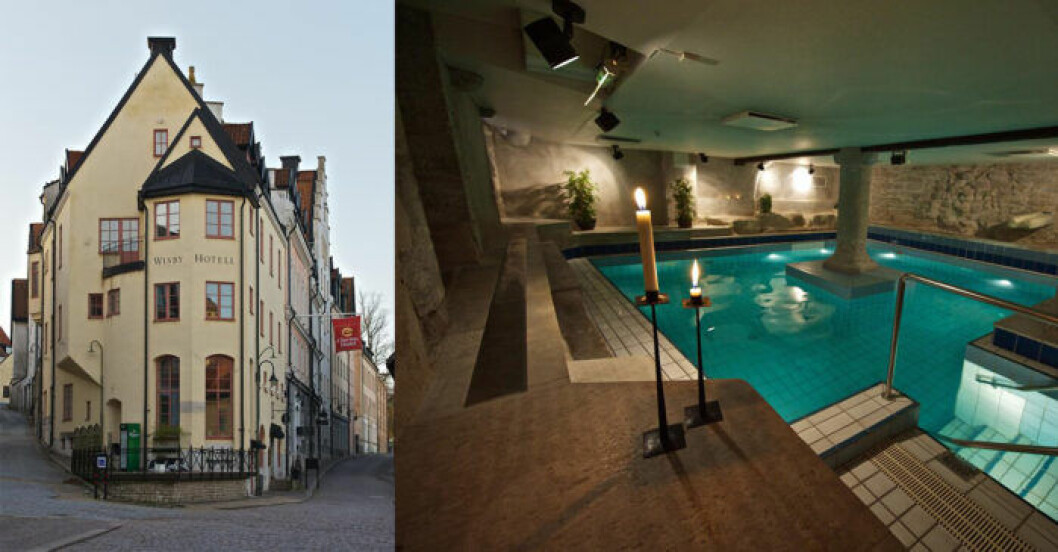 Clarion hotell, centralt i Visby, spahotell