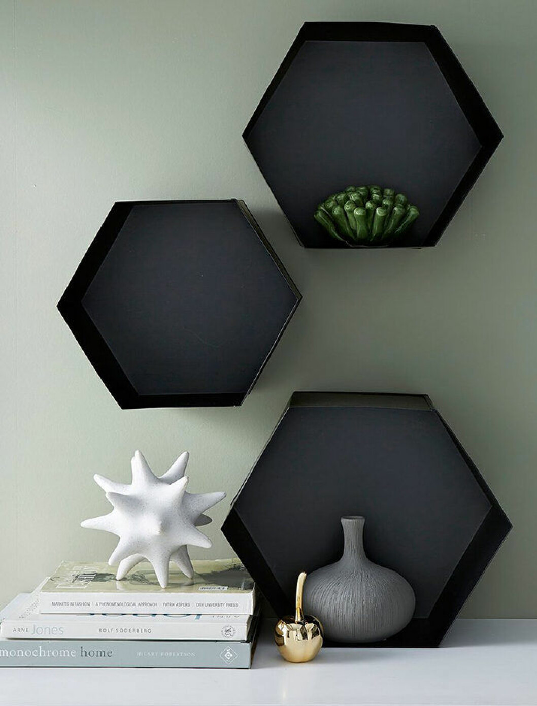 Hexagonformade hyllor från Ellos Home