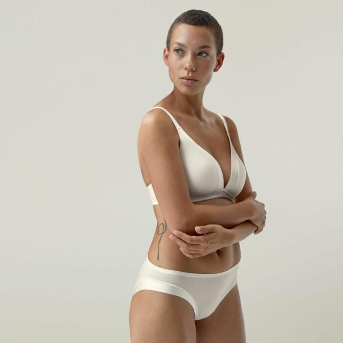 Sköna underkläder i off-white