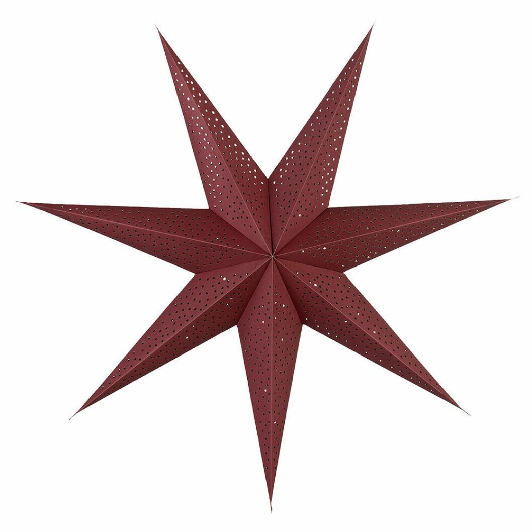 Icilinia adventsstjärna i mörk rött från Lene Bjerre