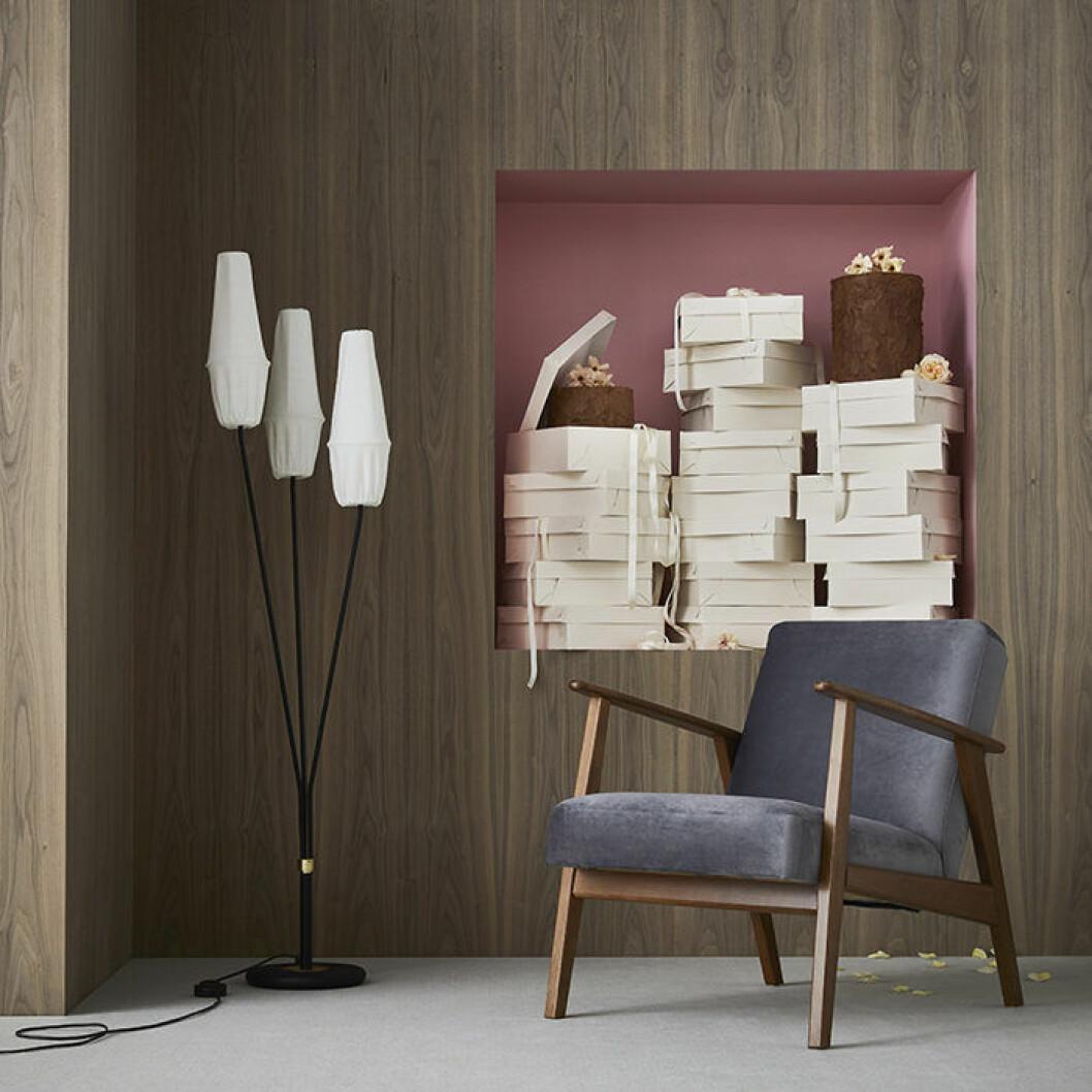 Ikea-lampa och fåtölj – inspirerade av 50- och 60-talet