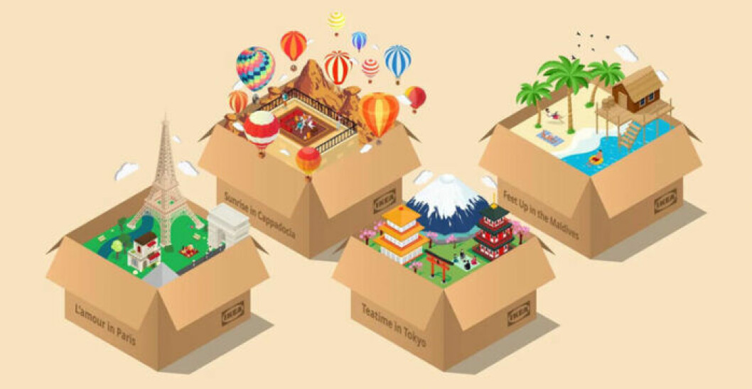 Inspirationsbild för Ikeas Vacation-boxar