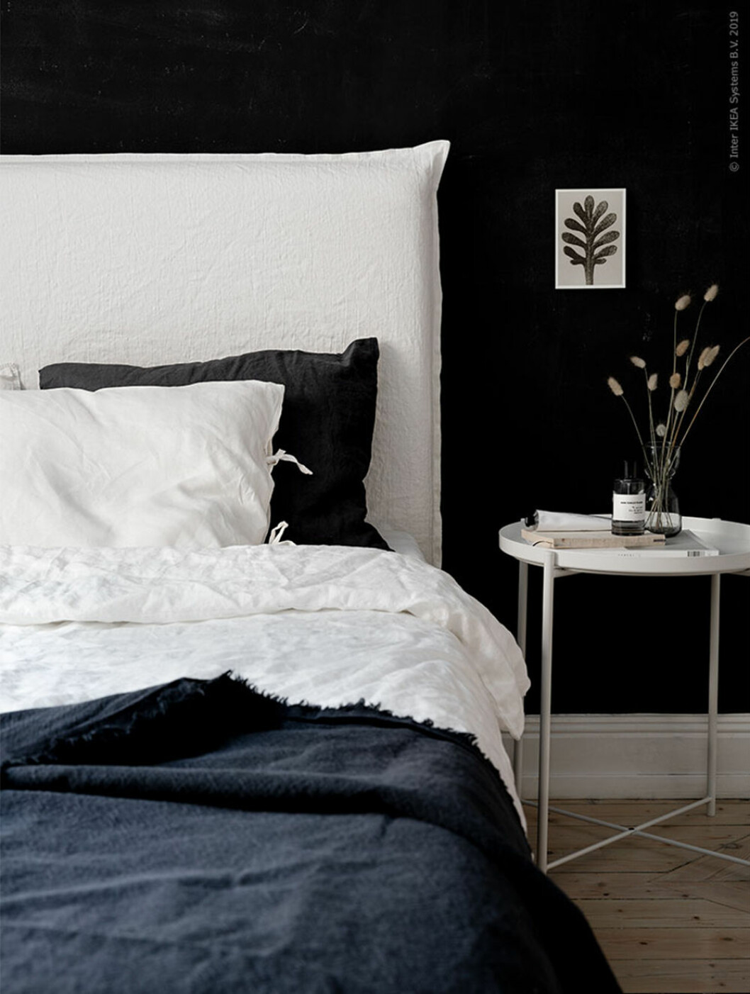 Sänggavel i linne - DIY och Ikea-hack