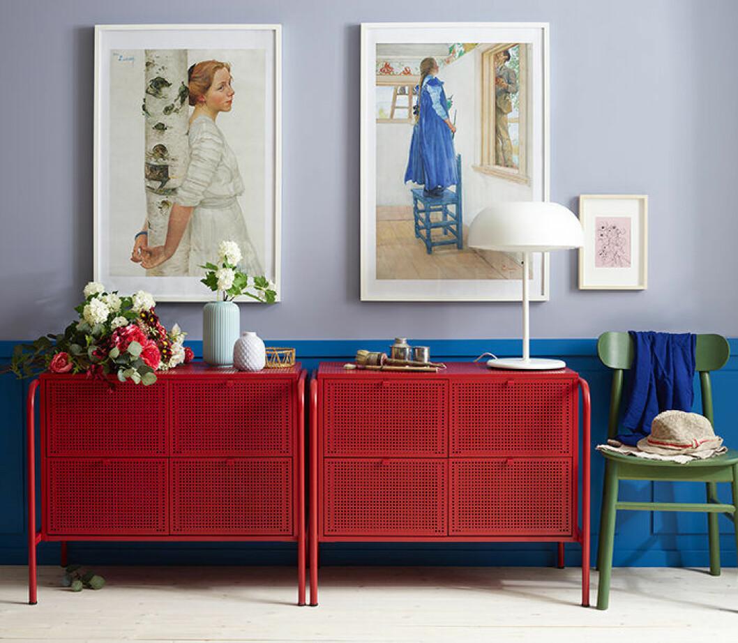 Nikkeby förvaringsbyrå i rött från Ikea 2019