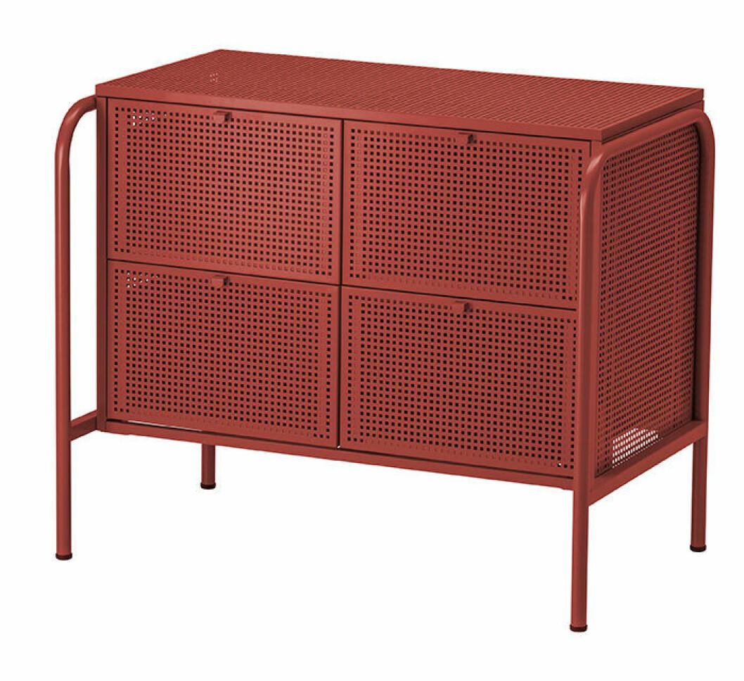 Röd Nikkeby byrå från Ikea 2019