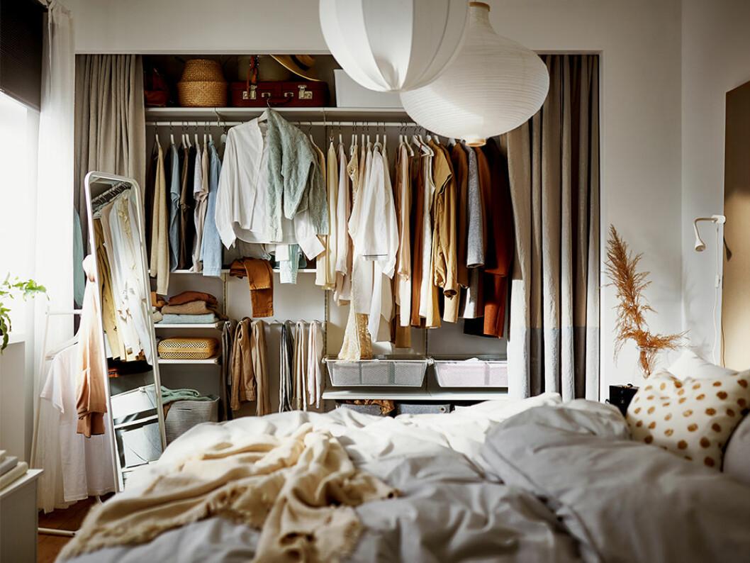 Garderobsförvaring från Ikea