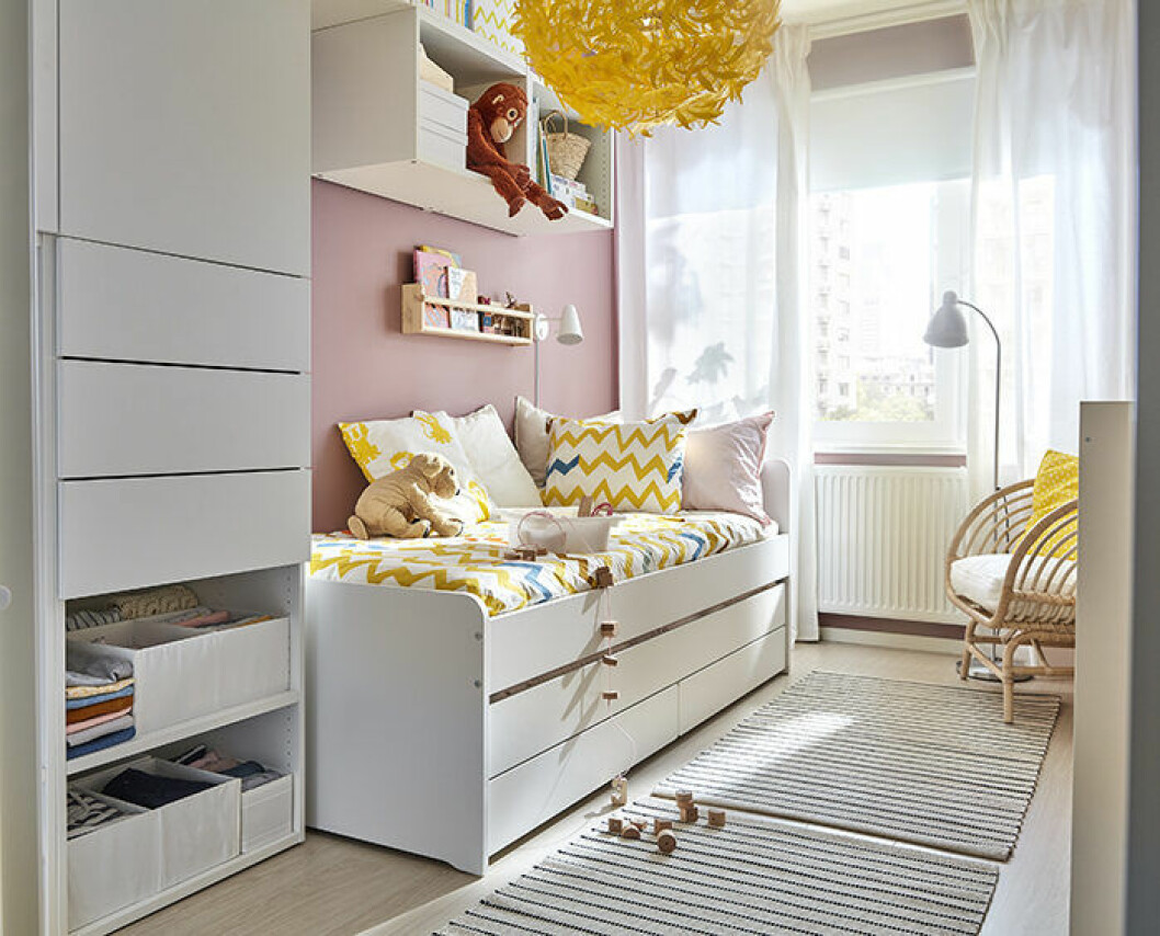 Barnrum med compact living-förvaring i Ikea katalogen 2019