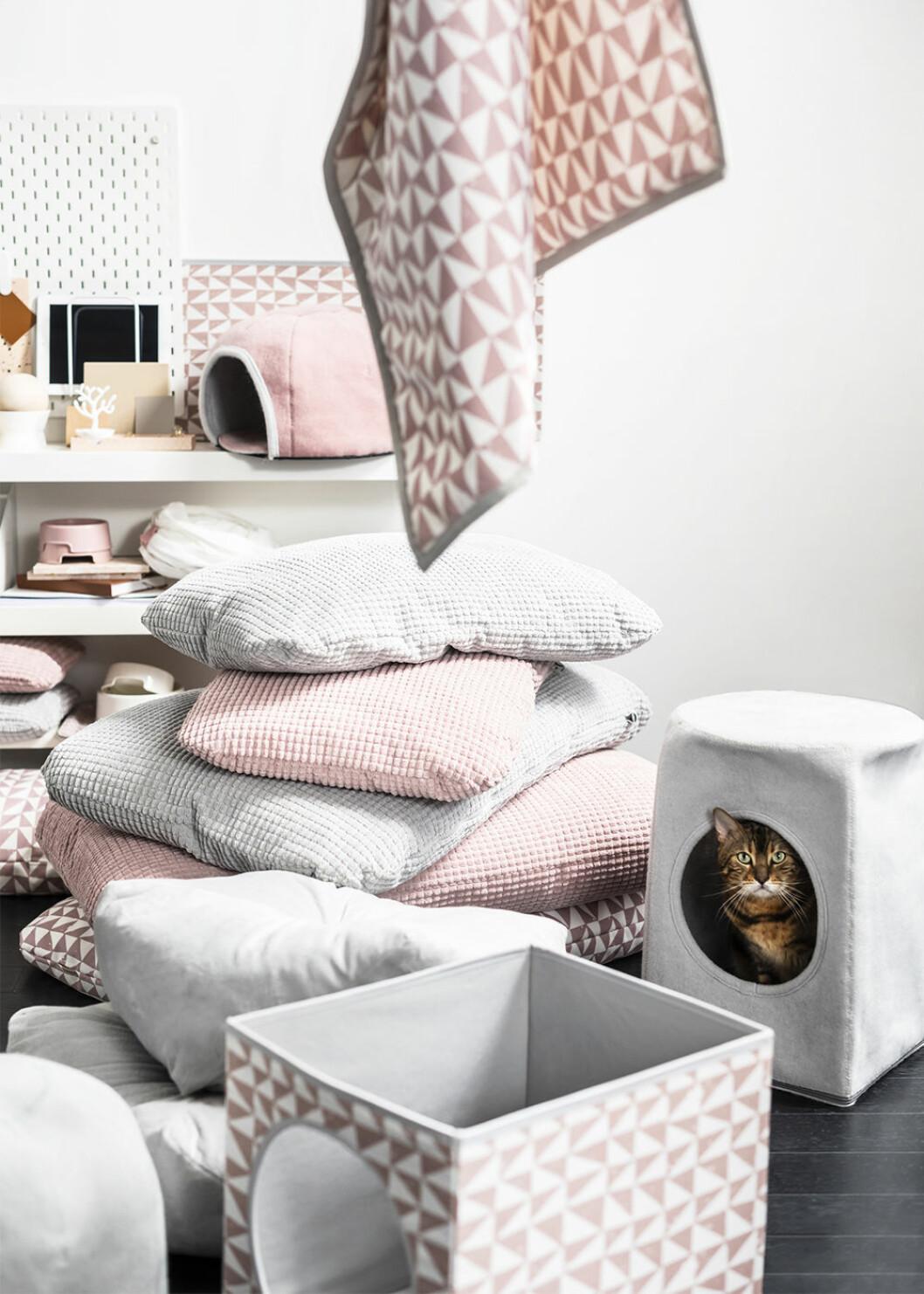 Mysiga textilier och katthus från Ikeas Lurvig