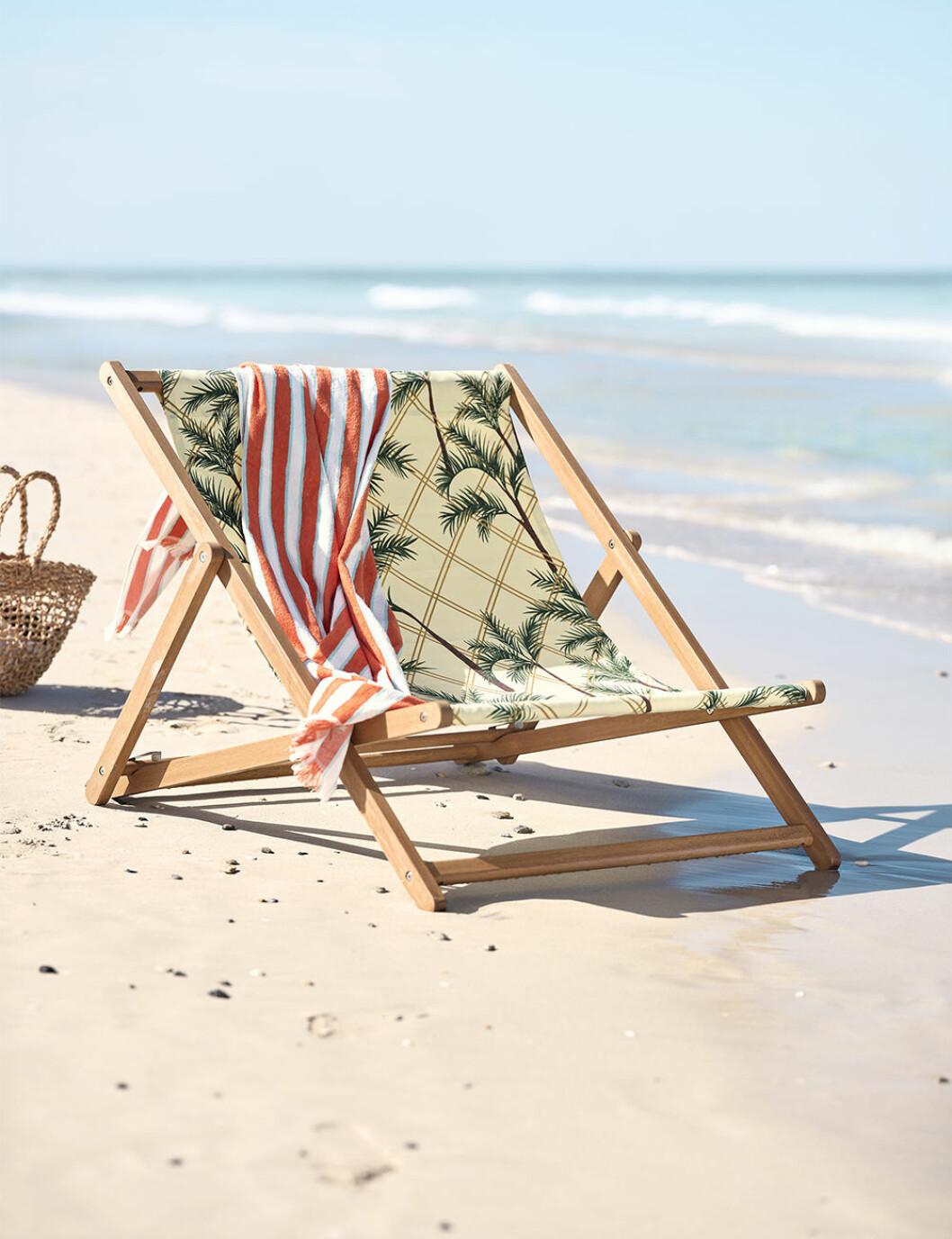 Solstol med palmmönster från Ikea