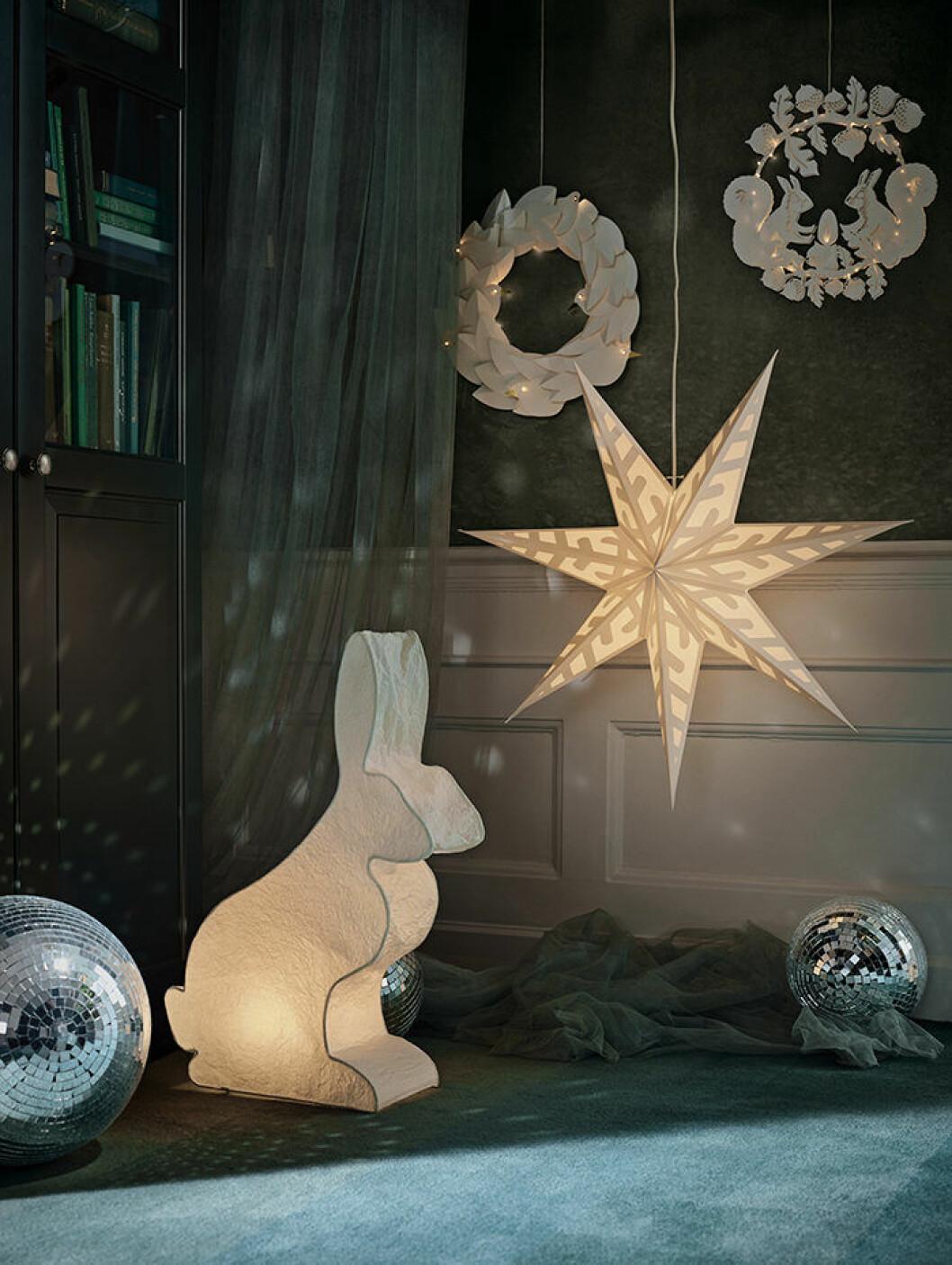 Julbelysning på Ikea