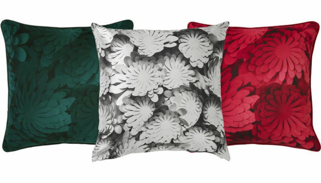 Kuddar av Bea Szenfeld för Ikea – finns i grönt, rött och grått