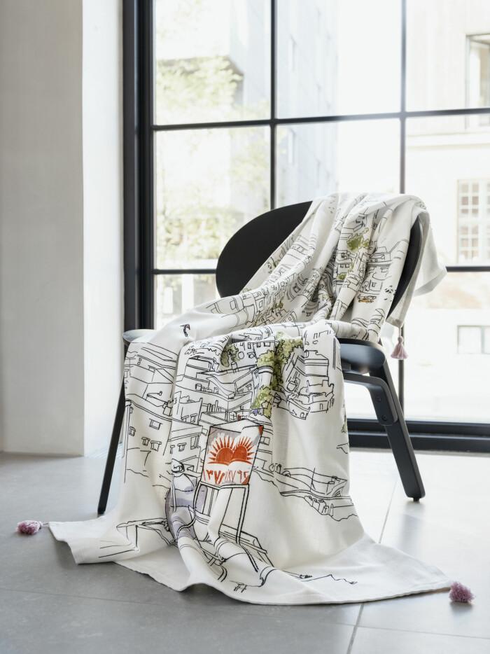Ikea nya kollektion Lokalt pläd på stol