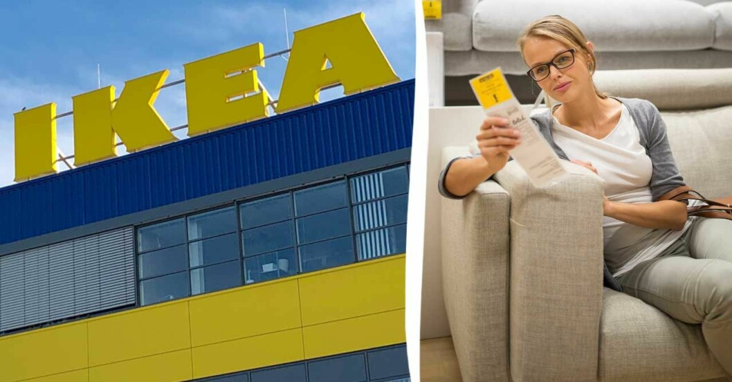 Kvinna i Ikea-varuhus
