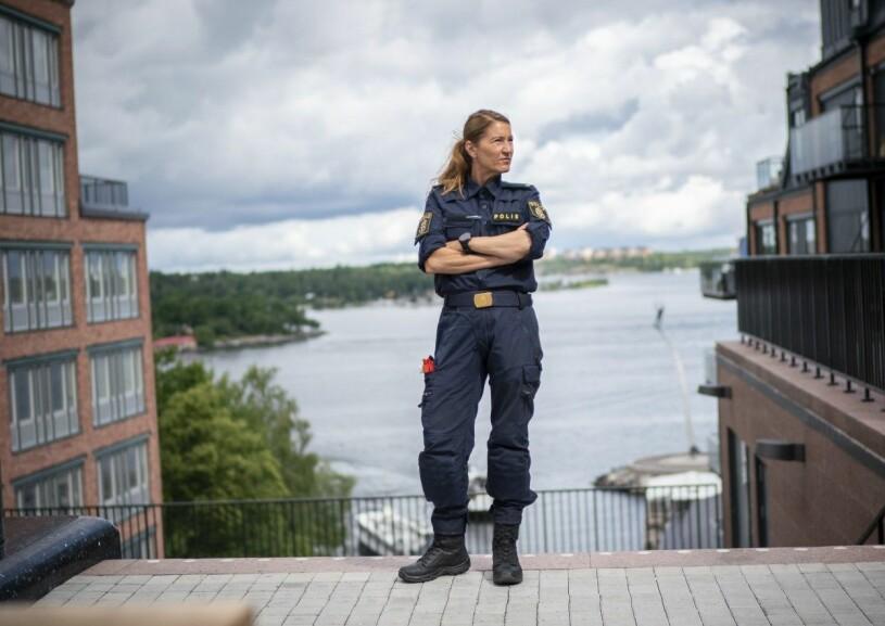 Pia Salming är nyutexaminerad polis.