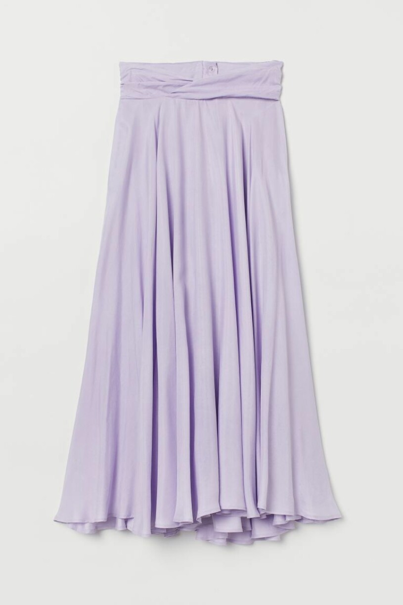 lila kjol h&m