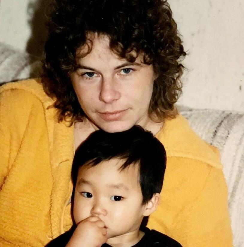 Patrik Lundberg tillsammans med mamma Birgitta.