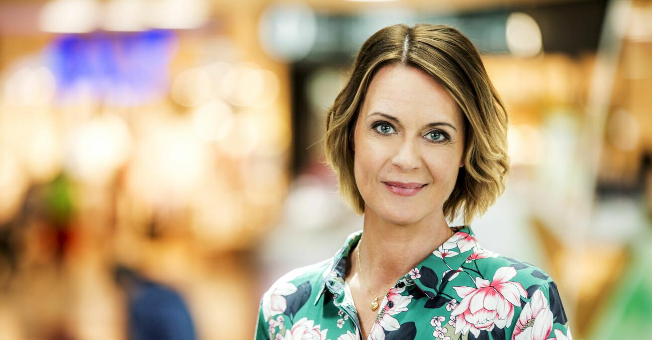 Inger Ljung Olsson programledare för Go' kväll i SVT