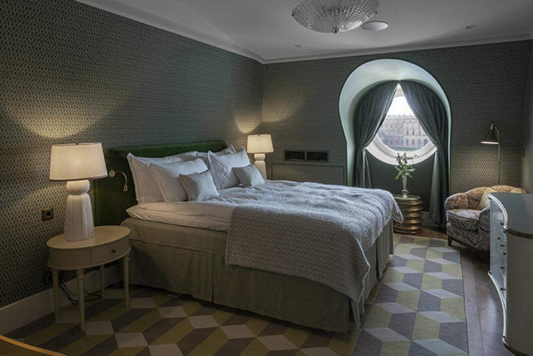Signatursviter Grand Hotel grönt sovrum
