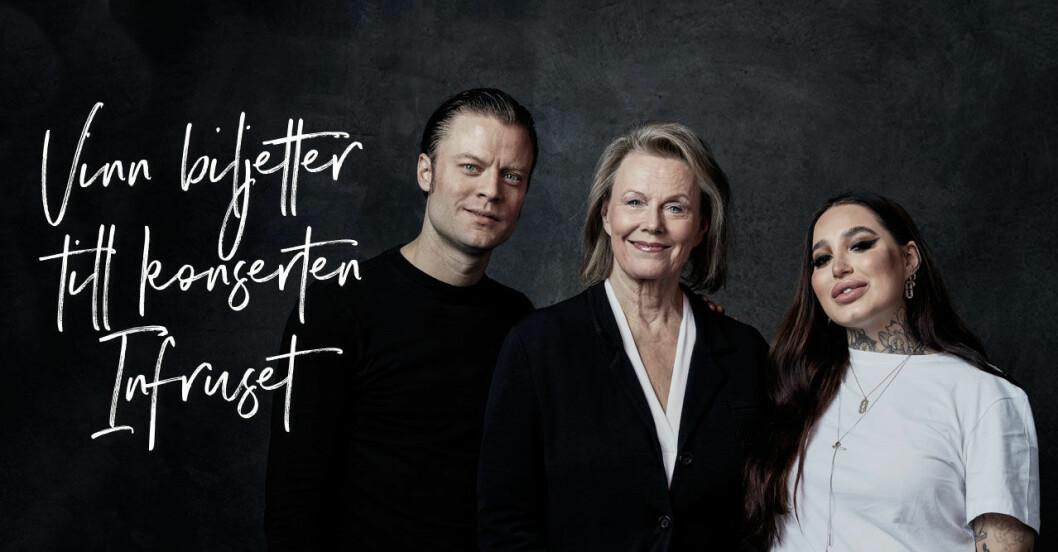 Vinn biljetter till Infruset på Malmö Live med Björn Dixgård från Mando Diao, Arja Saijonmaa och Shirin El-Hage.