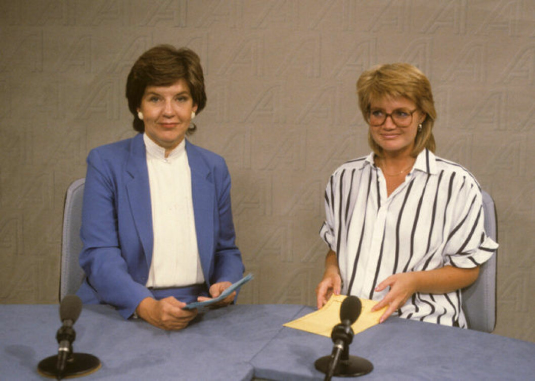Ingela Agardh och Ann-Britt Ryd Pettersson Aktuelltankare 1986