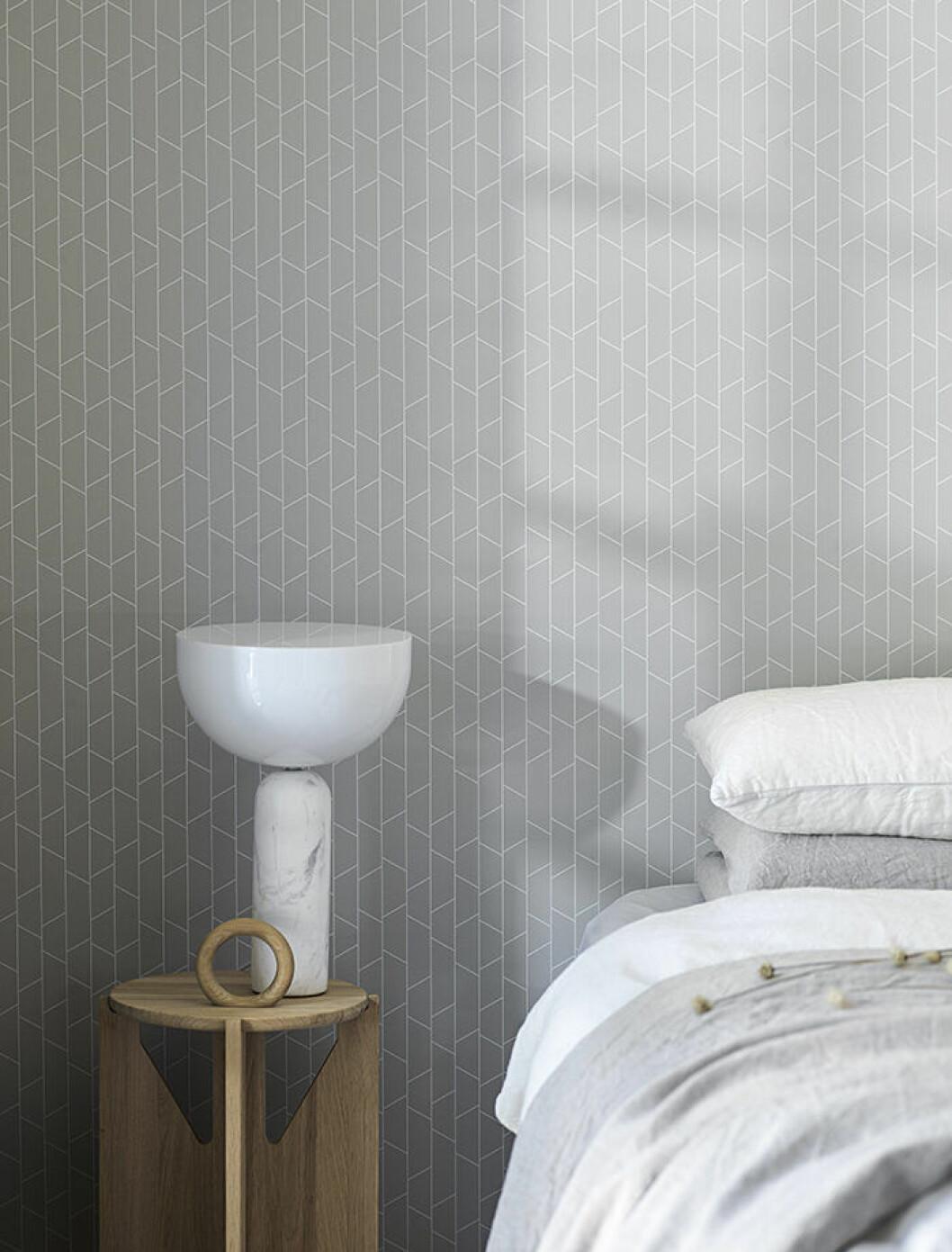 Grafisk tapet till sovrummet från Engblad