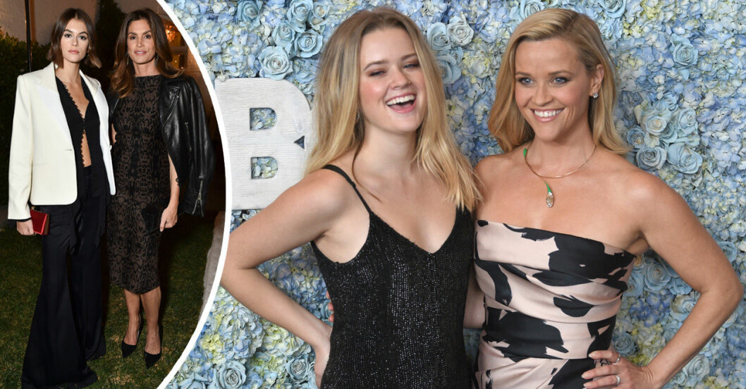Rheese Witherspoon med dotter, Cindy Crawford med dotter