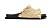Platta sandaler med bast i ljusbrunt. Svart sula. Sandaler från Inuikii.