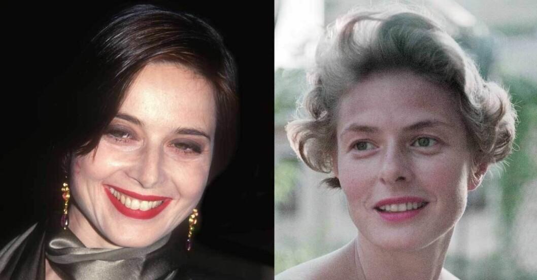 Isabella Rossellini och Ingrid Bergman.
